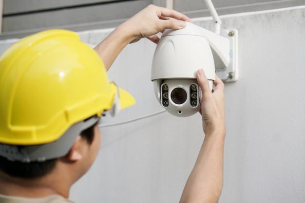 installing CCTV cameras
